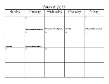 17-18 Richland One Calendars