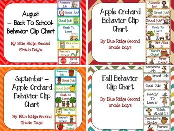 17 Behavior Clip Charts  Throughout The Year -Monthly, Themed, and Holidays-