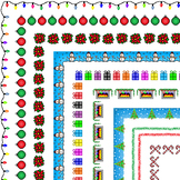 29 Christmas & Winter Themed Page Borders, Frames, & Page