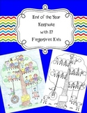 17 Fingerprint Kids End of the Year and Autograph Memory Page