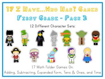 17 First Grade I Have Who Has Math Folder Games - Pack 2