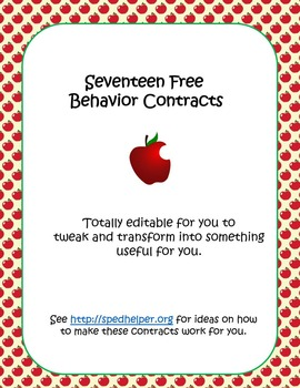 17 Free Behavior Contracts