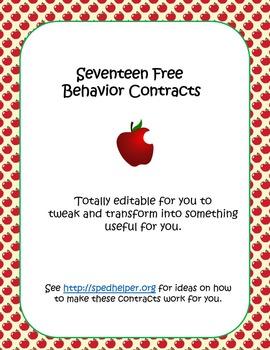 17 Free Behavior Contracts