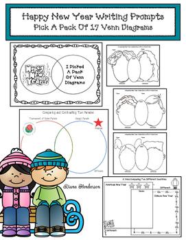 17 Happy  New Year Venn Diagram Writing Prompts