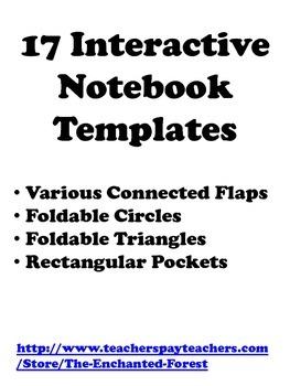 17 Interactive Notebook Templates