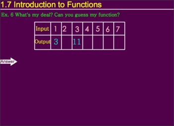 1.7 Introduction to Functions