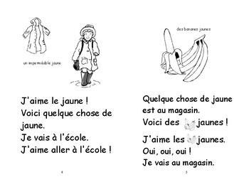 17) J'aime le  jaune -Livret de lecture ENFANT C1 Mat. et 1ère