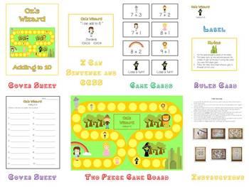 17 Kindergarten Math Folder Games - Fun Centers - Common Core Aligned!