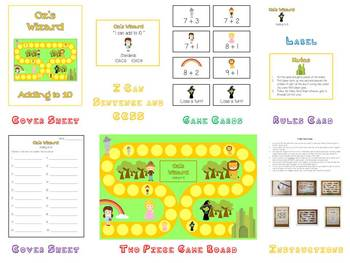 17 Kindergarten Math Folder Games - Fun Centers - Common Core Aligned!