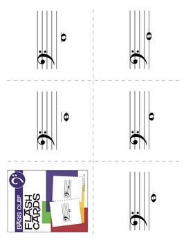 17 Music Flash Cards | Bass Clef (Digital Print)