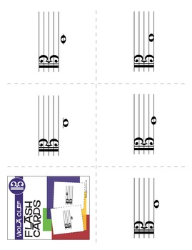 17 Music Flash Cards | Viola Clef (Digital Print)