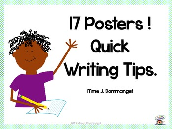 17 Posters! - Writing Tips