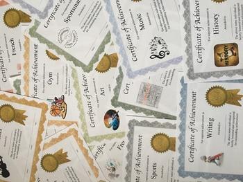 17 Professional PDF Editable Achievement Certificates in Color