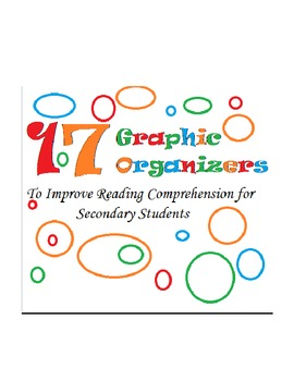 17 Reading Comprehension Graphic Organizers -- Reading Strategies & Analysis