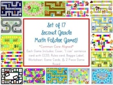 16 Second Grade Math Folder Games - Fun Centers - Common Core Aligned!