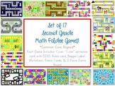 16 Second Grade Math Folder Games - Fun Centers - Common C
