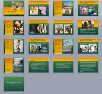 17 Slide Living Things PowerPoint
