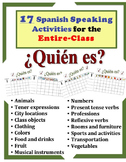 17 Spanish Speaking Activities for the Entire Class (¿Quién es?)