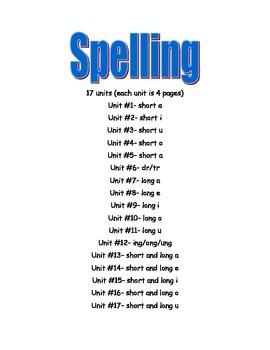 17 Spelling Units