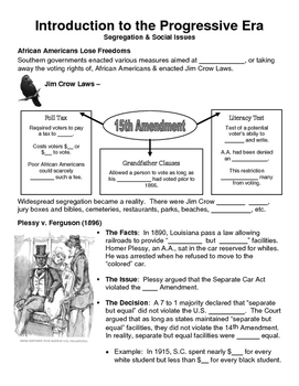 17 - The Progressive Era - Scaffold/Guided Notes (Blank an