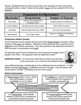 17 - The Progressive Era - Scaffold/Guided Notes (Filled-In Only)