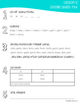 17 Bossy R Phonics Lessons with Templates,Printables,Google Slides