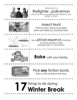 17 Winter Break coupon book