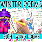 17 Winter Sight Word Poems for Shared Reading (Poetry for Beginning Readers)