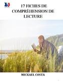 17 fiches de compréhension de lecture, French Immersion (#258)