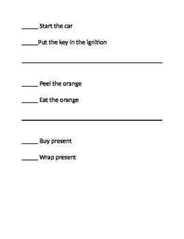 37 pages of SIMPLE 2 & 3 STEP sequences adults dementia SNF safety awareness
