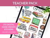 170 Digital Teacher Clip Art - Sticker PNGs and GoodNotes Booklet