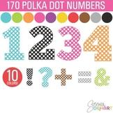 Clip Art: Polka Dot Numbers and Symbols 170