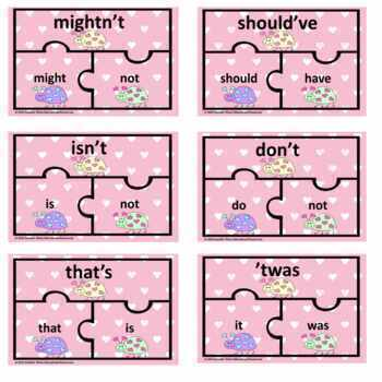 170 Valentine's Day Contraction Puzzles