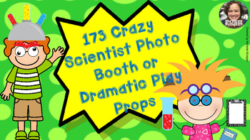 173 Crazy Scientist Props for Photo Booth Dramatic Play or Reader's Theater