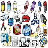 174 School Supplies Clip Art