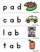 174 Short Vowel Word Slider Cards