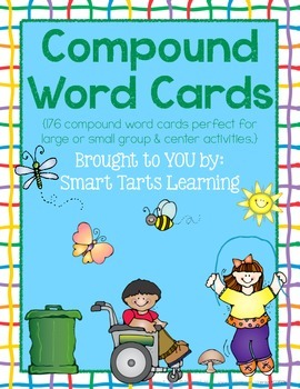 176 Compound Word Cards {K-2 Printables}