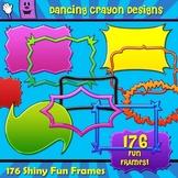 176 Fun Frames - Bright Shiny Borders Clip Art Set