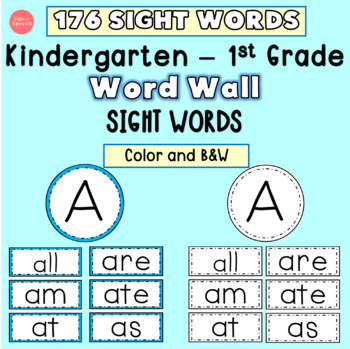 graphic regarding Word Wall Printable referred to as 176 K-1st Sight Terms Phrase Wall Printables