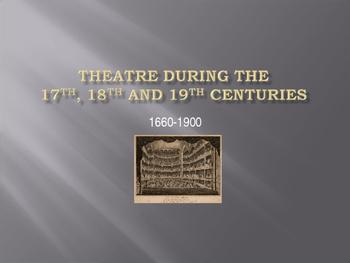17th, 18th, 19th Century European Theatre