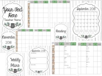 Teacher Planner 2018-2019 Farmhouse