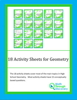 18 Activity Sheets for High School Geometry