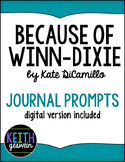 Because of Winn-Dixie: 18 Journal Prompts (Distance Learning)
