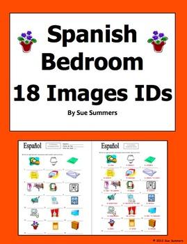 Spanish Bedroom Items 18 Vocabulary IDs - El Dormitorio