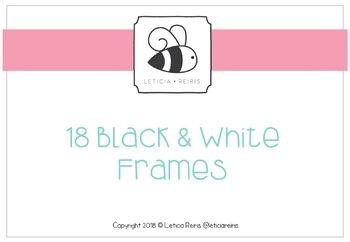 18 Black & White Frames / 18 marcos blancos y negros
