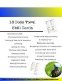 18 Boys Town Skill Cards