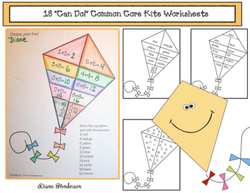 "18 ""Can Do!"" Common Core Kite-Themed Worksheets"