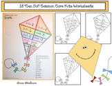 """18 """"Can Do!"""" Common Core Kite-Themed Worksheets"""