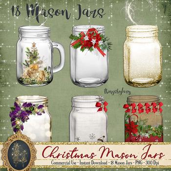 18 Christmas Mason Jars Diamond Antique Jar Magic Fairy Jars