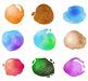 18 Circle Paint Splotches   Watercolor Vector Clip Art Graphics   PNG, AI, EPS